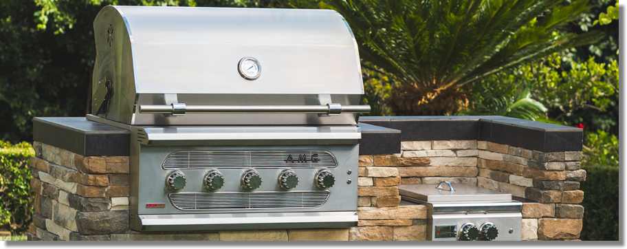 American Muscle Grill, Built-In Grill, Freestanding Grill, Custom Outdoor Kitchens