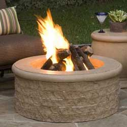 Chisled Fire Pit, American Fyre Designs Fire Pits, Custom Outdoor Kitchens