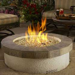 Stucco Fire Pit, American Fyre Designs Fire Pits, Custom Outdoor Kitchens