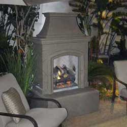 Chica Fireplace, American Fyre Designs Fireplaces, Custom Outdoor Kitchens