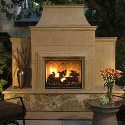Grand Cordova Fireplace  American Fyre Designs Fireplaces Custom Outdoor Kitchens Essentials