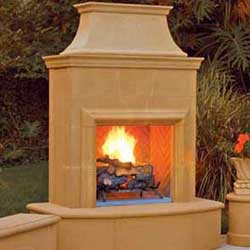 Petite Cordova Fireplace, American Fyre Designs Fireplaces, Custom Outdoor Kitchens