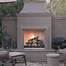Grand Petite Cordova Fireplace, American Fyre Designs Fireplaces, Custom Outdoor Kitchens