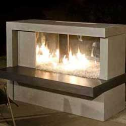 Manhattan Fireplace, American Fyre Designs Fireplaces, Custom Outdoor Kitchens