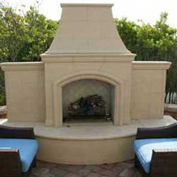Grand Phoenix Fireplace, American Fyre Designs Fireplaces, Custom Outdoor Kitchens