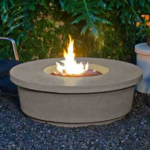 Contempo Round Firetable, American Fyre Designs Fire Table, Custom Outdoor Kitchens