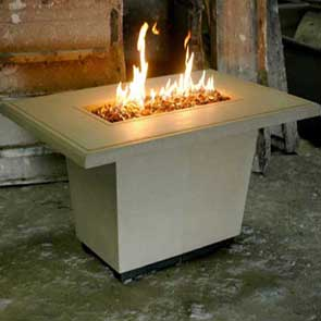 Cosmopolitan Rectangle Firetable, American Fyre Designs Fire Table, Custom Outdoor Kitchens