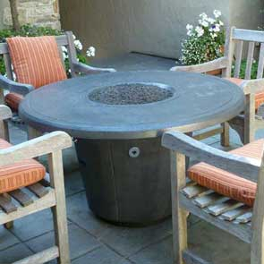 Cosmopolitan Round Firetable, American Fyre Designs Fire Table, Custom Outdoor Kitchens