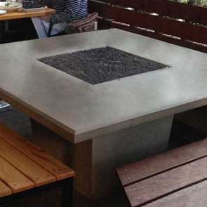 Cosmopolitan Square Firetable, American Fyre Designs Fire Table, Custom Outdoor Kitchens