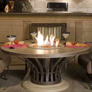 Fiesta Firetable, American Fyre Designs Fire Table, Custom Outdoor Kitchens