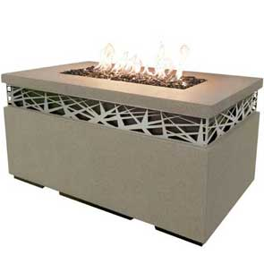 Nest Rectangle Firetable, American Fyre Designs Fire Table, Custom Outdoor Kitchens