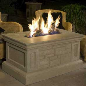 Rectangle Firetable, American Fyre Designs Fire Table, Custom Outdoor Kitchens