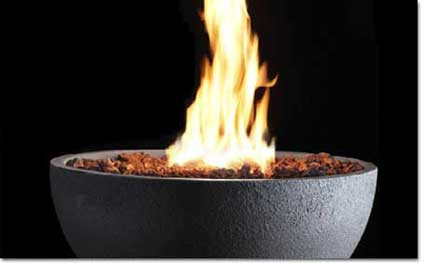Kingsman Fire Pits, Black Fire Bowl