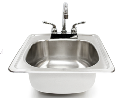 Stainless Steel Drop in Sink with Faucet by Summerset Grill